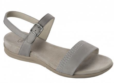 SYRMA NUBUCK W LIGHT GREY 38
