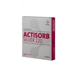 ACTISORB SILVER 220 10.5X10.5  3PZ